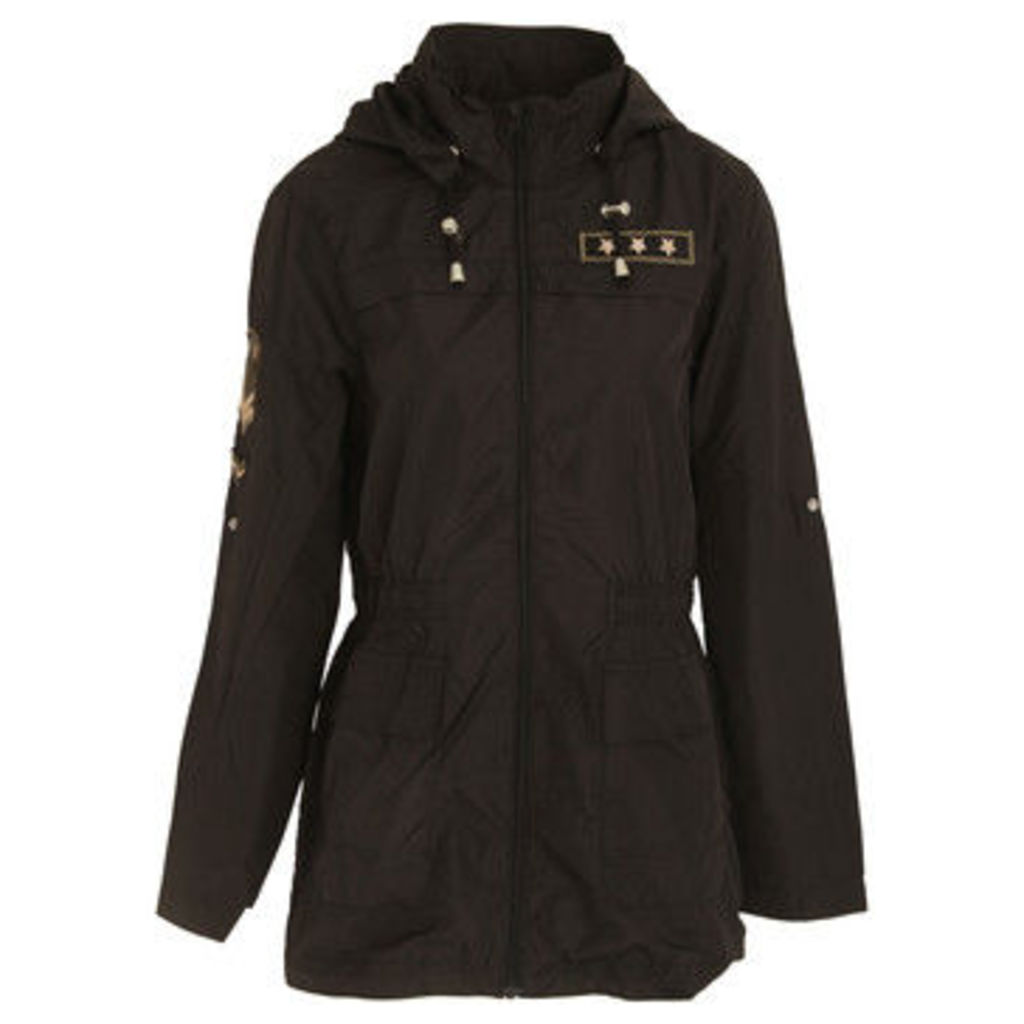 Brave Soul  WomensLadies Zip Up Jacket  women's Parka in Black