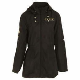 Brave Soul  WomensLadies Zip Up Jacket  women's Parka in Black