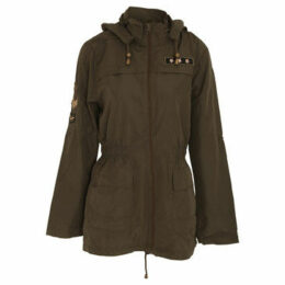 Brave Soul  WomensLadies Zip Up Jacket  women's Parka in Green