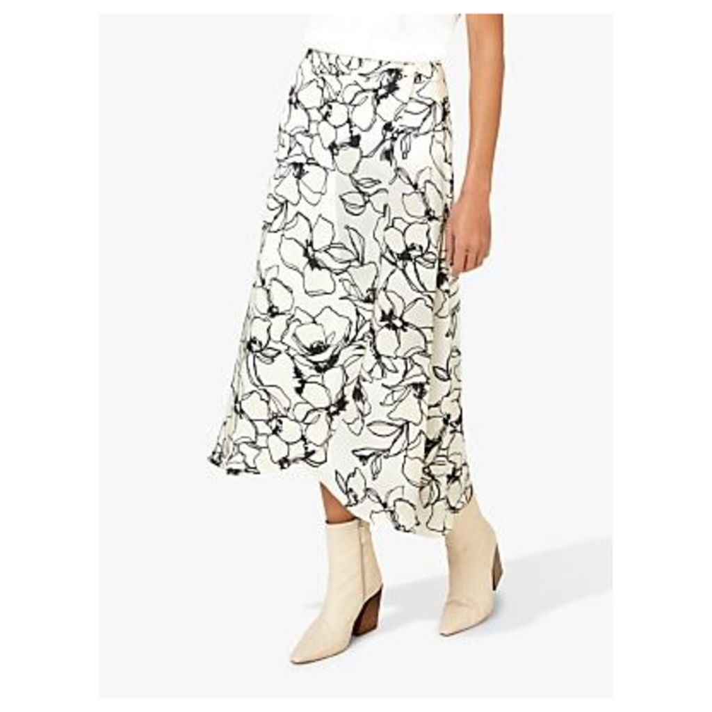 Finery Floral Sketch Print Skirt, Multi