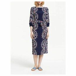 Boden Ferne Midi Dress, Navy/Multi