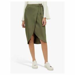 Ted Baker Aleyxa Wrap Belted Midi Skirt, Khaki