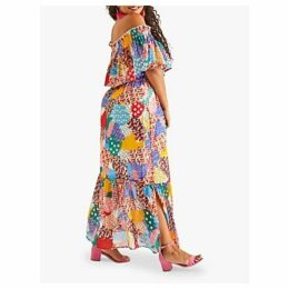 Yumi Curves Patchwork Heart Maxi Dress, Multi