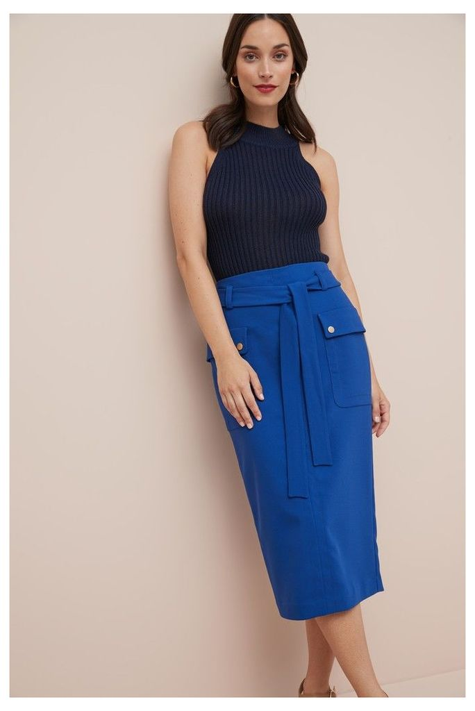 Womens Next Cobalt Pencil Skirt -  Blue