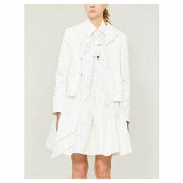 Bow silk-taffeta skirt