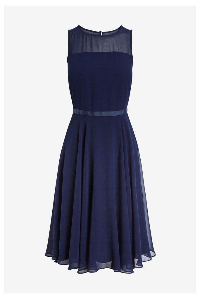 Womens Hobbs Blue Abigale Dress -  Blue