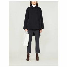 Malanca asymmetric cashmere coat