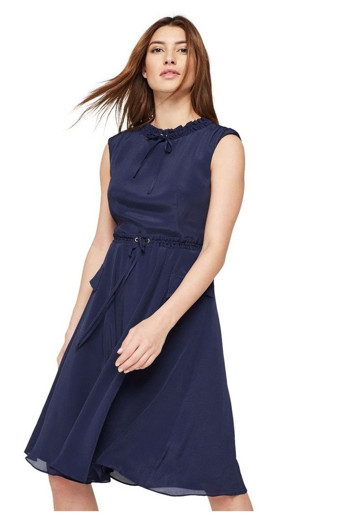 Womens Damsel In A Dress Blue Verdi Drawstring Dress -  Blue