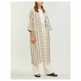 Tobias striped kimono