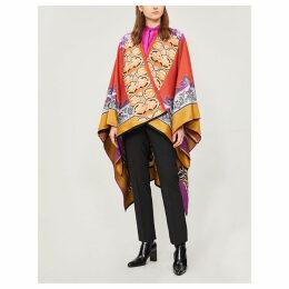Mantella wool patchwork scarf