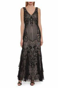 Womens Gina Bacconi Black Jamila Beaded Maxi Dress -  Black