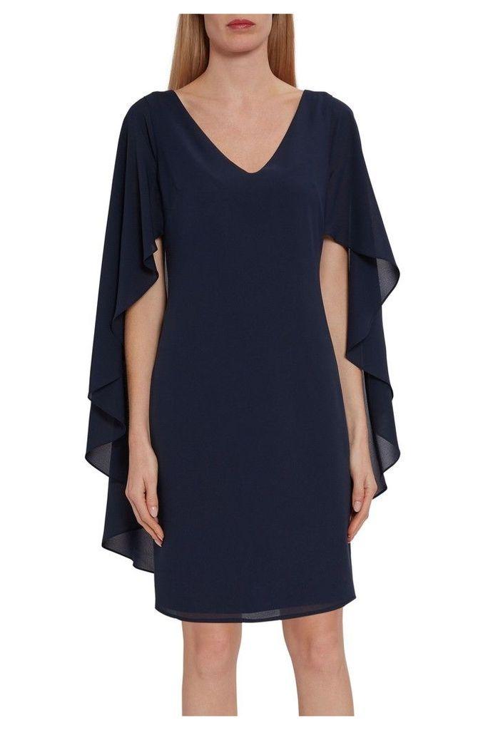 Womens Gina Bacconi Blue Danara Chiffon Dress -  Blue