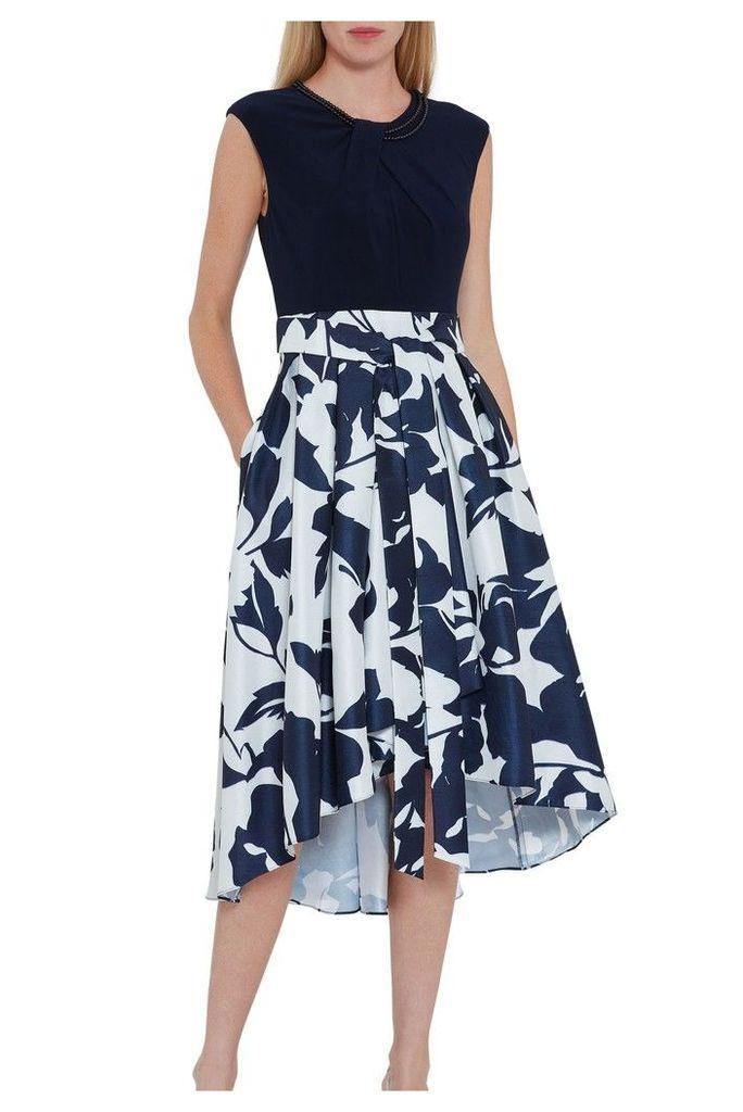 Womens Gina Bacconi Blue Gizela Floral Dress -  Blue