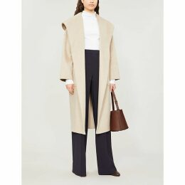 Marilyn hooded cashmere wrap coat