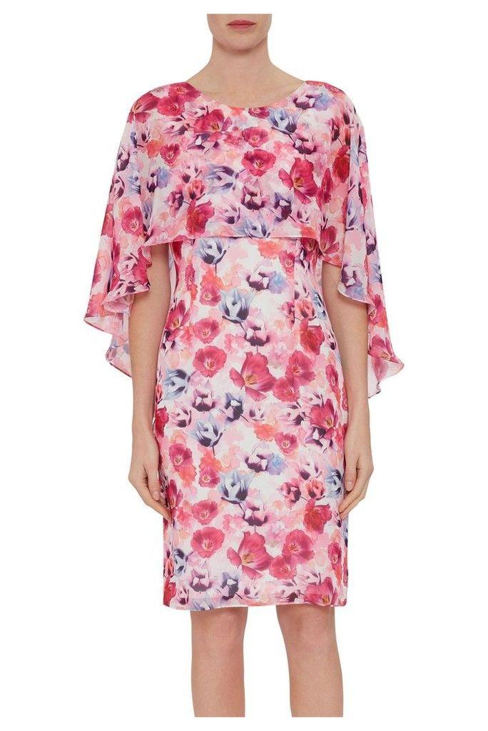 Womens Gina Bacconi Pink Idra Chiffon Dress And Overcape -  Pink