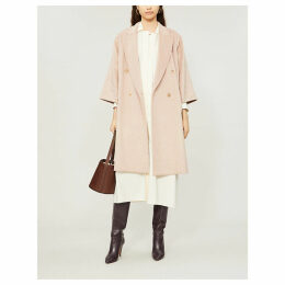 Risorsa double-breasted cashmere and camel wool-blend coat