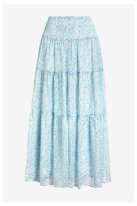 Womens Lauren Ralph Lauren Blue Floral Pauldina Skirt -  Blue
