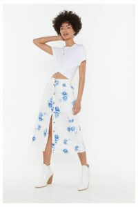 Get Out the Fine China Midi Skirt