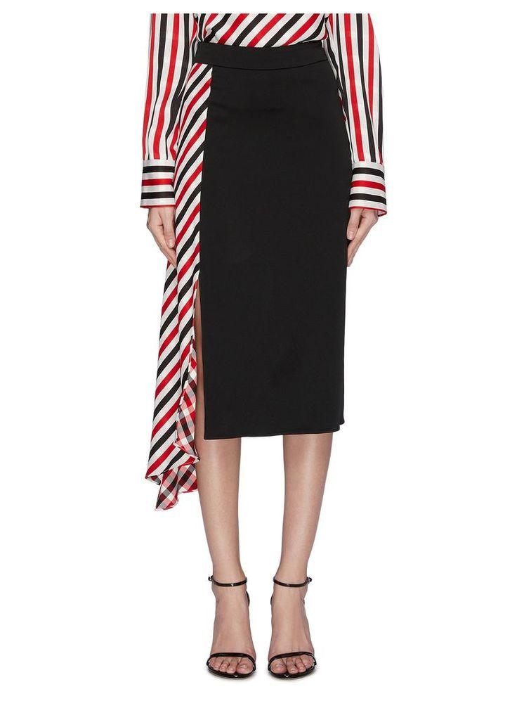 'Venus' colourblock stripe drape panel skirt