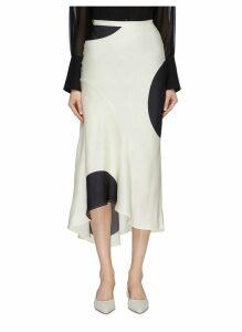 'Sectional' oversized dot print asymmetric skirt