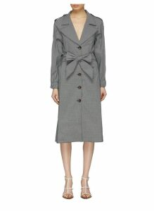 'Motivations' belted gingham check trench coat