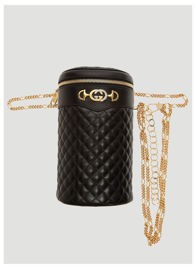 Gucci Quilted Leather Belt Bag in Black size S