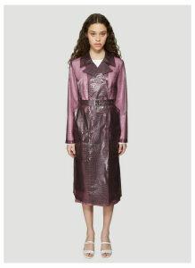 Sies Marjan Nisa Embossed Plastic Trench Coat in Purple size US - 04