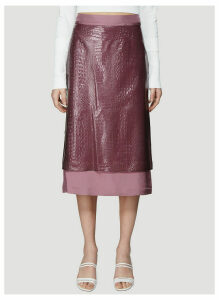 Sies Marjan Sula Embossed Plastic Straight Skirt in Purple size US - 06