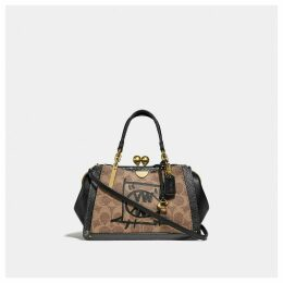 Coach Kisslock Dreamer 21 In Signature Canvas With Rexy And Snakeskin Detail By Guang Yu