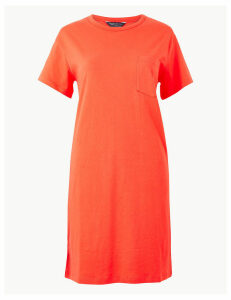M&S Collection Pure Cotton Patch Pocket T-Shirt Dress