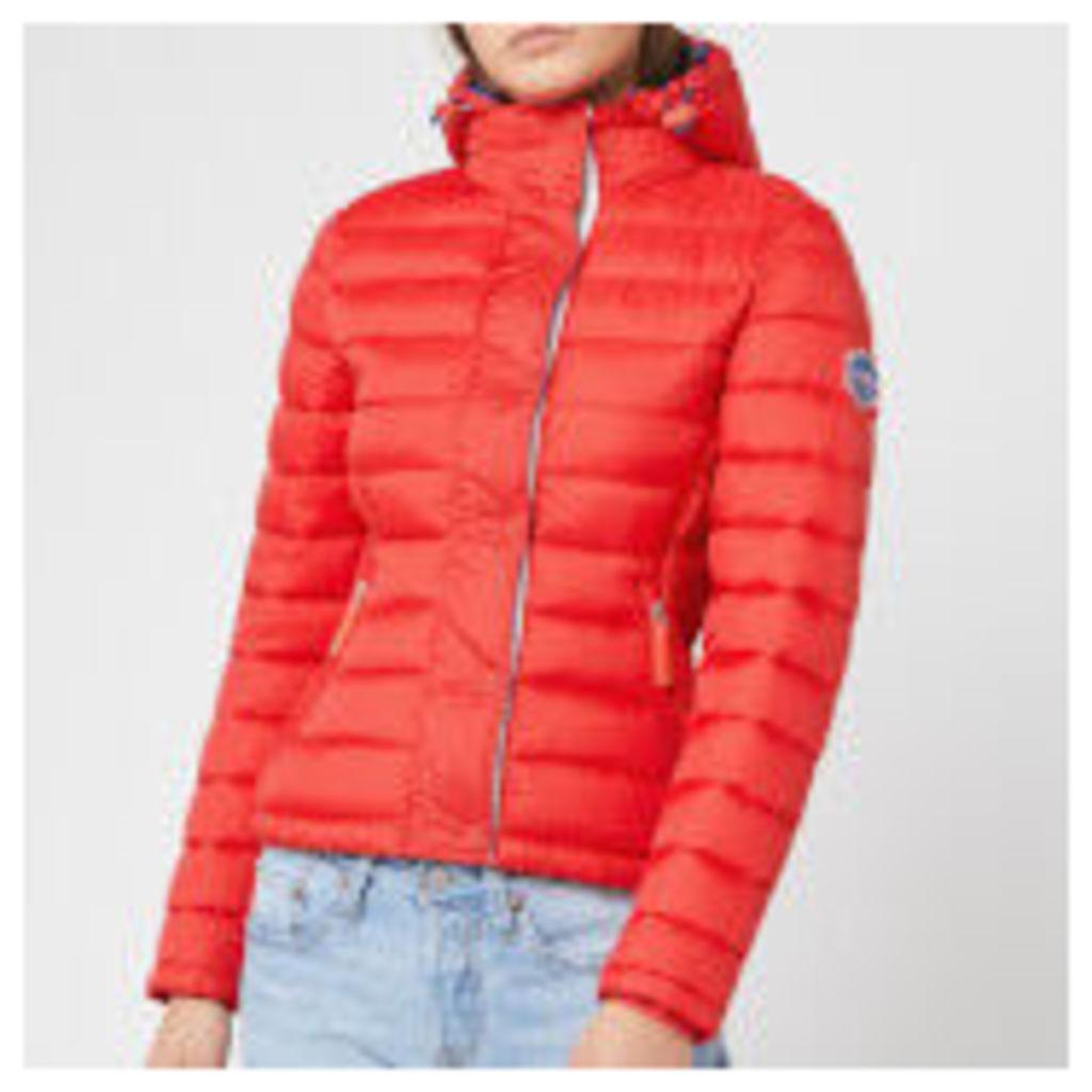 Superdry Women's Fuji Slim Double Zip Hoody - Red