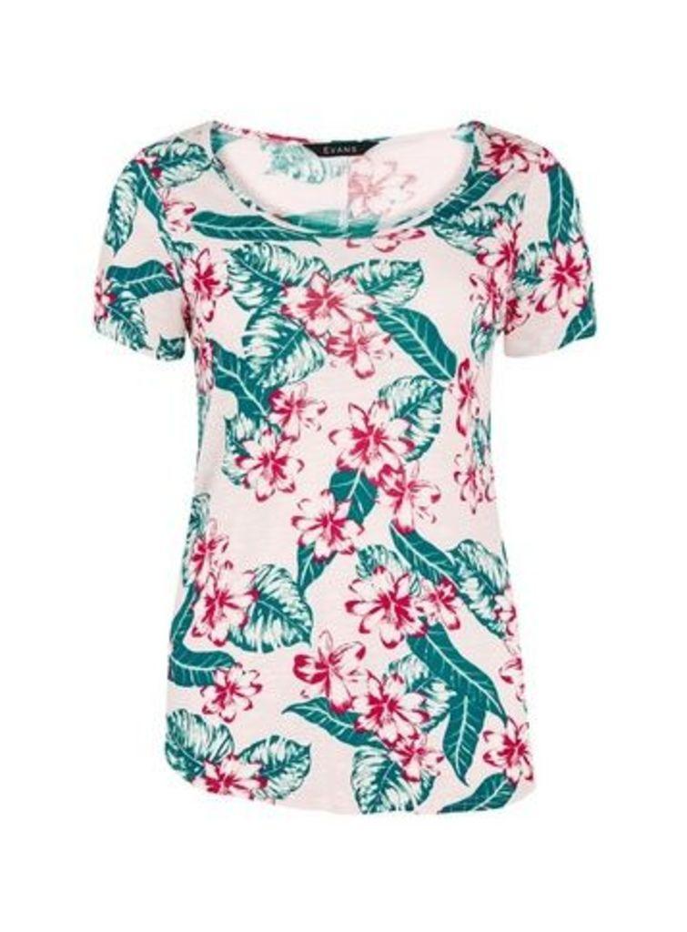 Pink Paisley Print T-Shirt, Pink