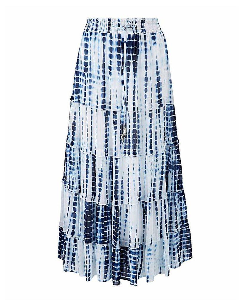 Joanna Hope Tie Dye Tiered Maxi Skirt