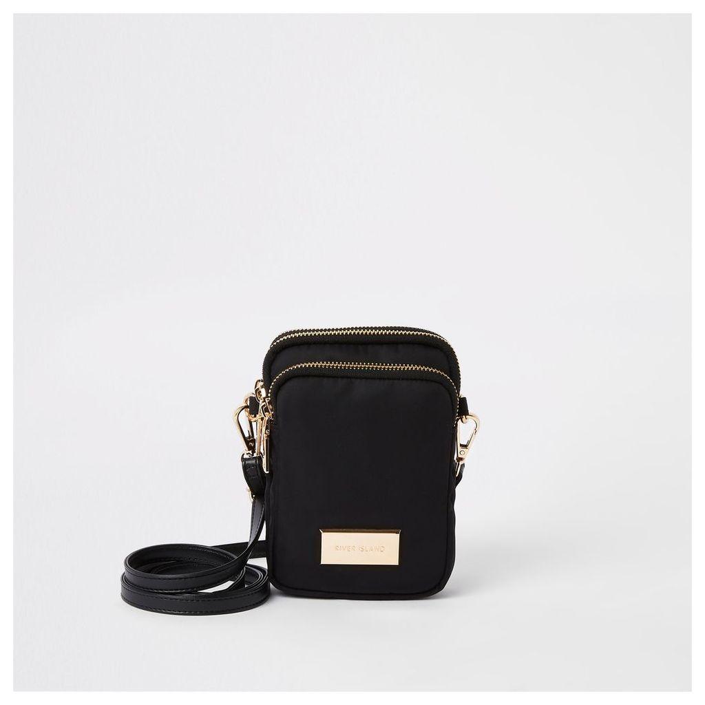 Womens Black mini pouch cross body bag