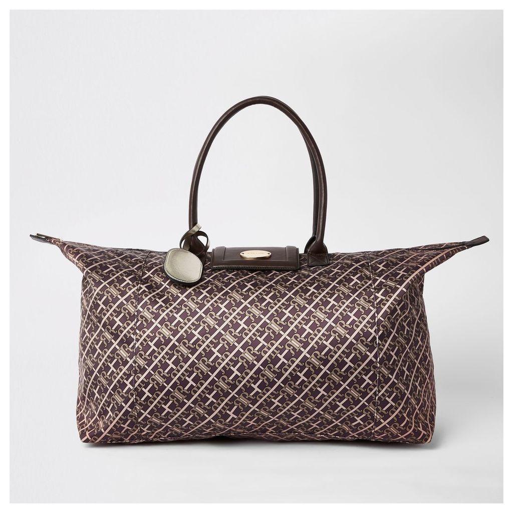 Womens Brown RI monogram travel bag
