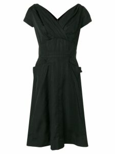 William Vintage 1958 pleated detail dress - Black