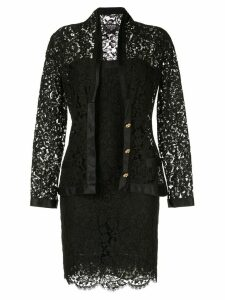 Chanel Pre-Owned setup suit jacket dress - Black