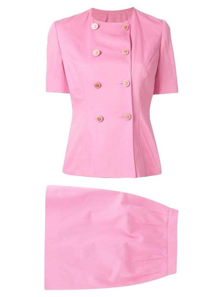 Céline Vintage setup suit jacket skirt - Pink