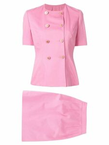 Céline Pre-Owned setup suit jacket skirt - Pink