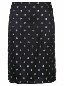 Chanel Pre-Owned CC skirt - Blue