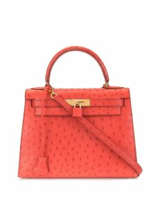 Hermès Pre-Owned Kelly 28 Ostrich Red 2way