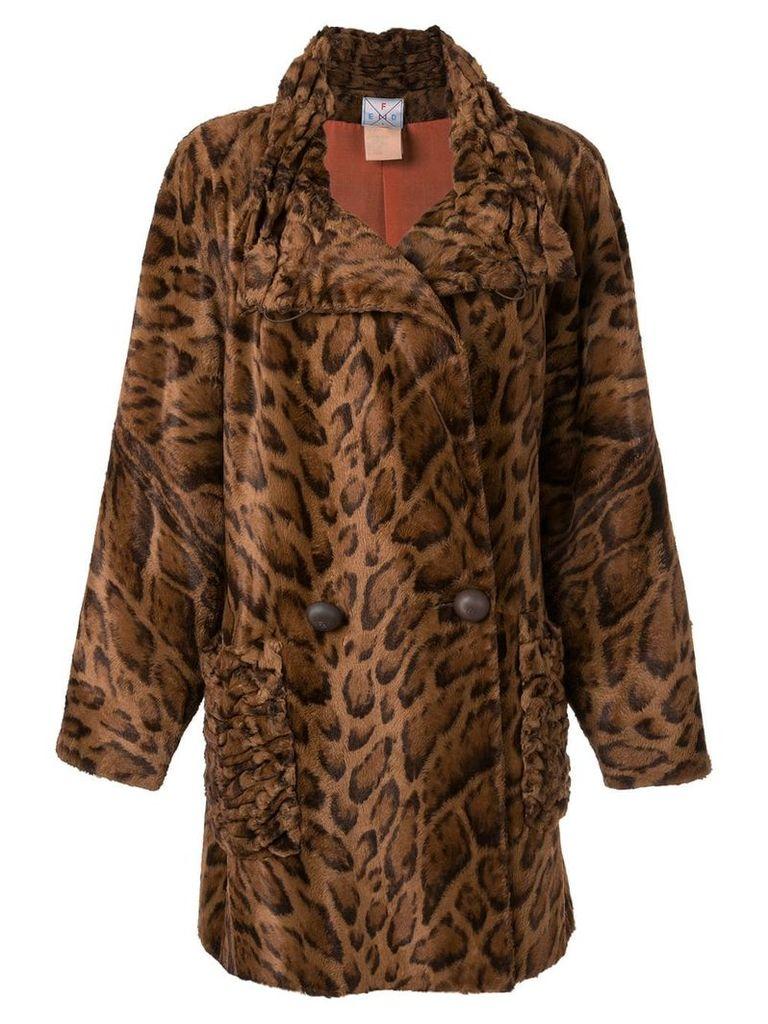 Fendi Pre-Owned faux fur coat - Brown