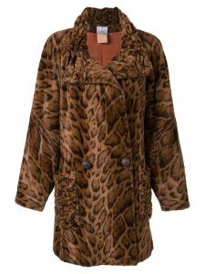 Fendi Pre-Owned faux fur coat - Brown