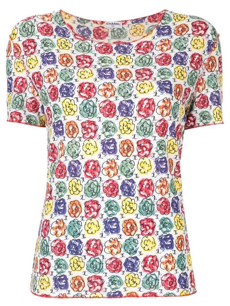 Chanel Vintage floral print T-shirt - Multicolour