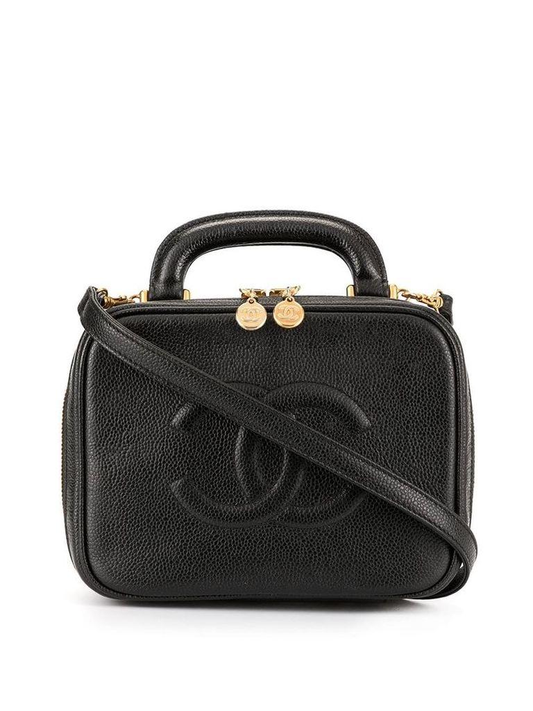Chanel Vintage 2way cosmetic vanity handbag - Black