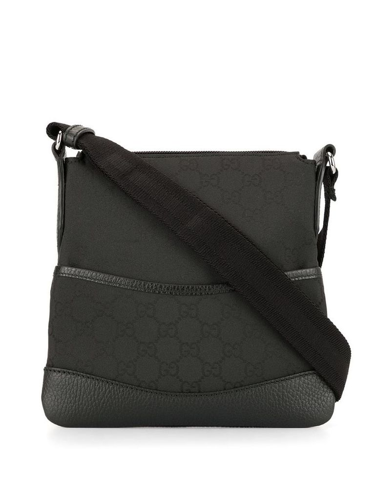 Gucci Vintage GG pattern crossbdy bag - Black