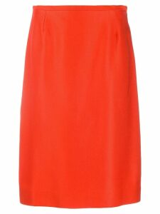 Jean Louis Scherrer Pre-Owned 1990's high waist midi skirt - Orange