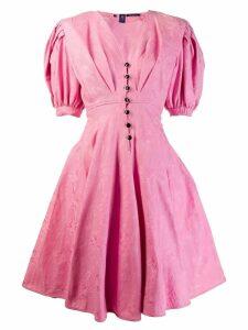 Emanuel Ungaro Vintage 1980's buttoned midi dress - Pink