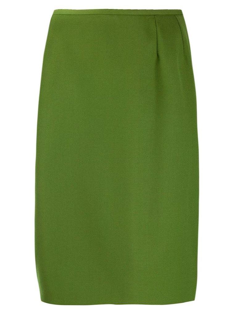Yves Saint Laurent Vintage 1980's straight fit skirt - Green