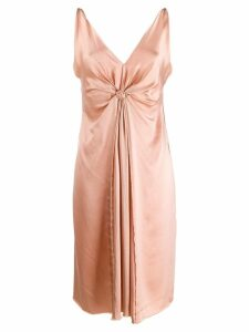 LANVIN Pre-Owned 2004's silk ruched sleeveless dress - Pink